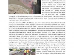 Zdjęcie zawiera opis wykonanych prac w lipcu 2020 - wersja w języku angielskim
